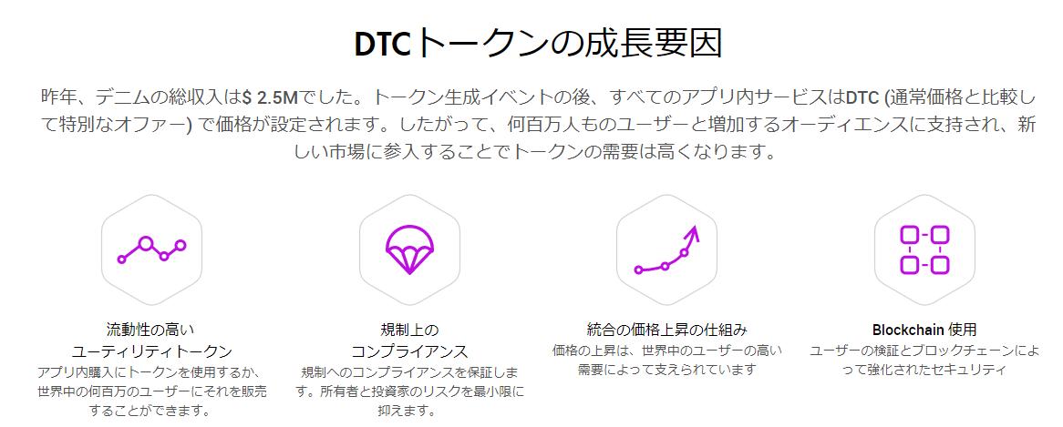 DTCトークン 成長要因